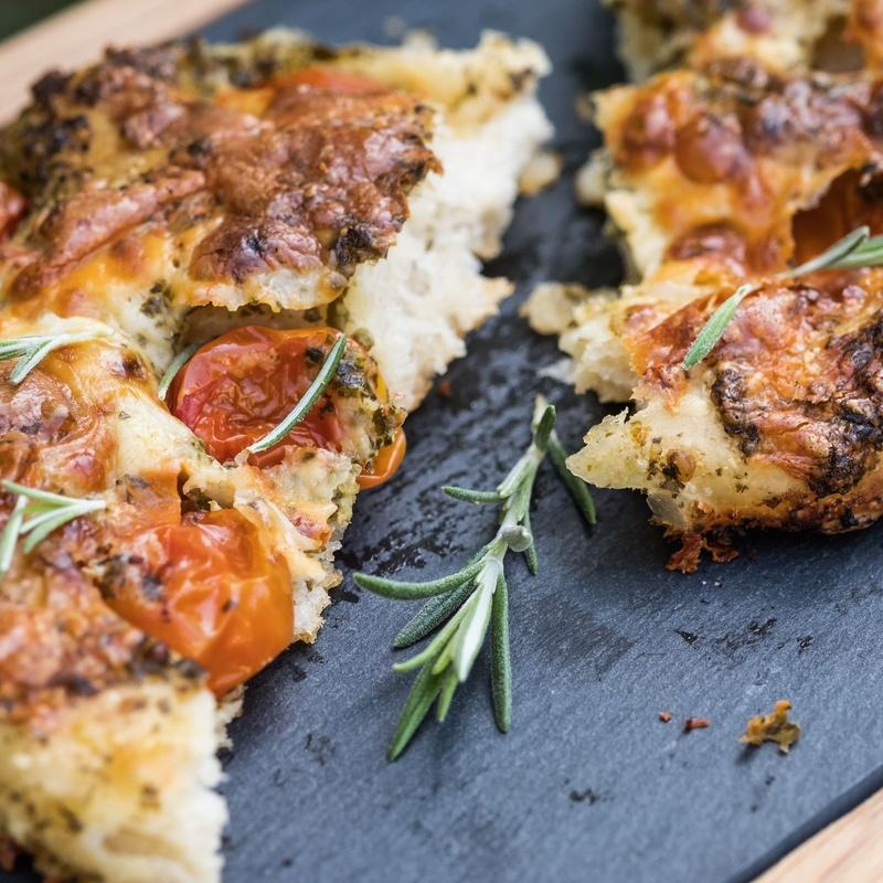 Focaccias: Carta de Rustico Pizza e Vino