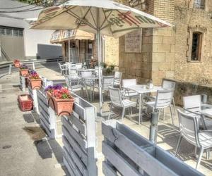 Terraza del hostal en Balaguer