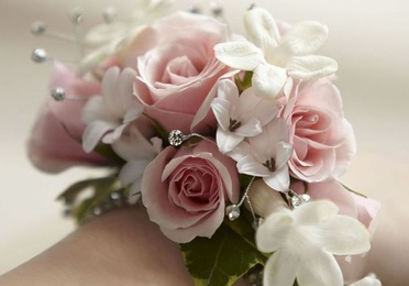 Brazaletes, pulseras flor preservada