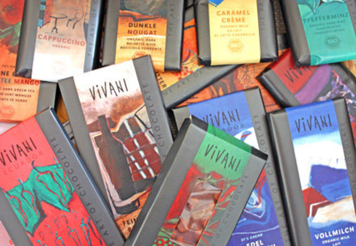 VIVANI, Chocolates, crema de cacao, cacao instantaneo: Catálogo de La Despensa Ecológica