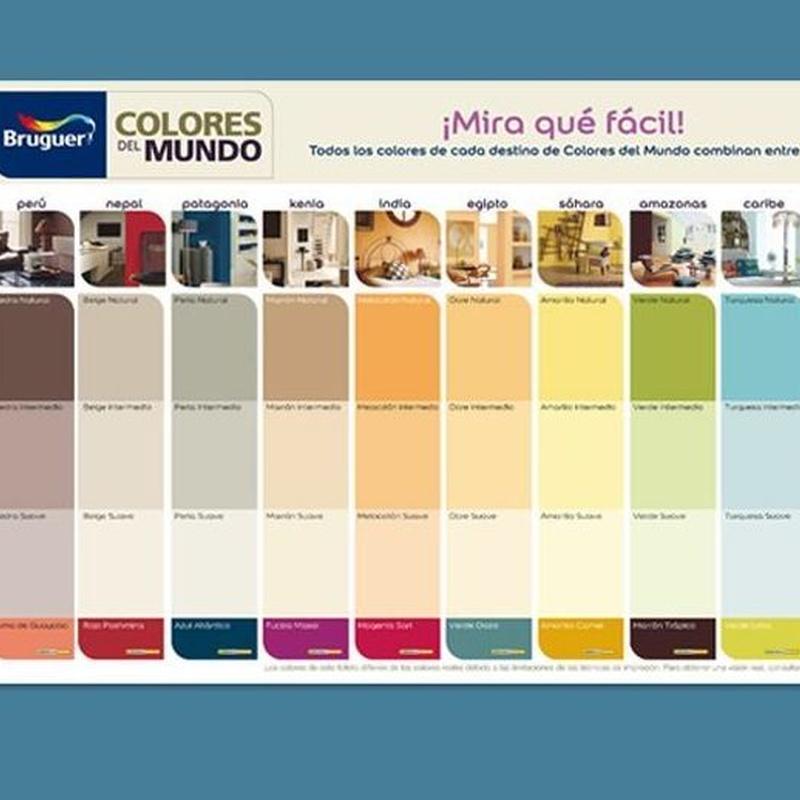 Pintura Plástica mate Colores del Mundo de Bruguer: Servicios y productos de Hnos. Guerrero, S.L.