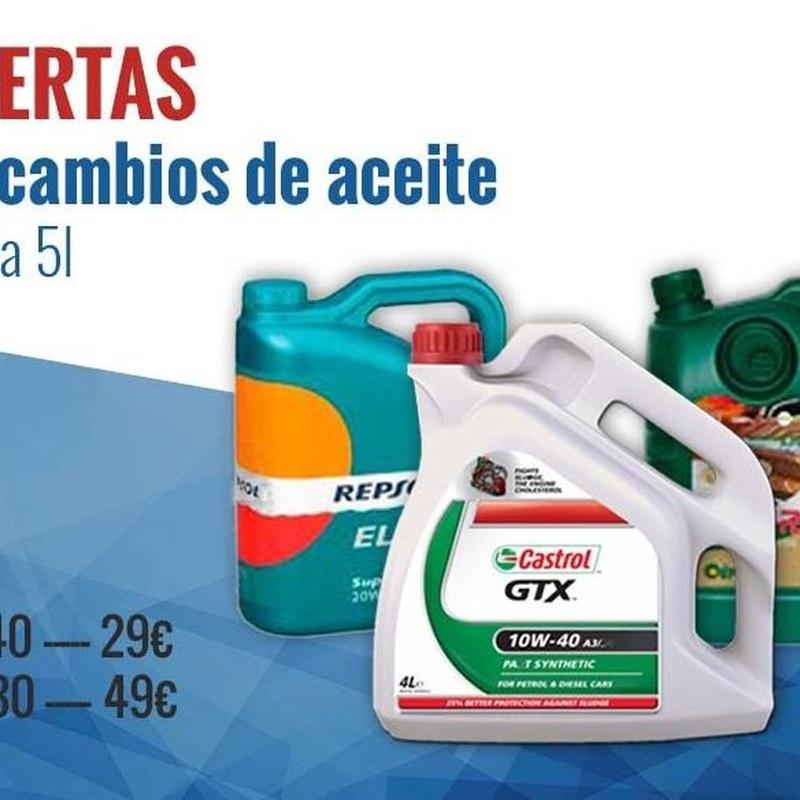 Oferta Cambio Aceite: Productos y Servicios de Claxon Vulcanizados Manolo