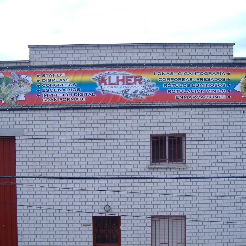Lonas en Gigantografía.: Servicios de Alher
