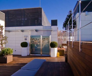 Barandilla de acero  inoxidable para terraza de hotel