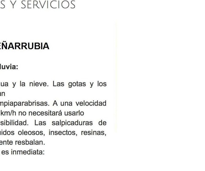 Repelente de agua para limpiaparabrisas coche: Servicios de Talleres Peñarrubia