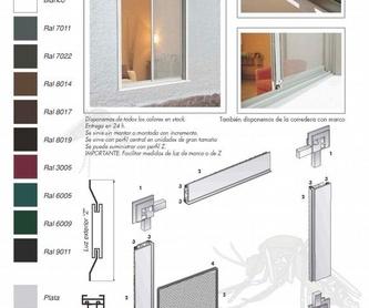 Puerta practicable de aluminio: Catálogo de Carpintería aluminio Vicar