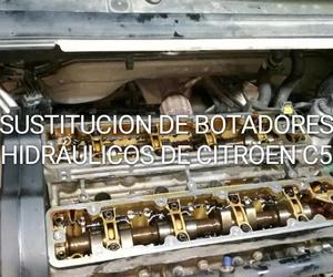 Sustitución de botadores hidraulicos Citroen C5