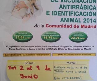 CAMPAÑA VACUNACIÓN ANTIRRÁBICA 2014