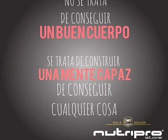 Fitness coach / IFBB competidor: Servicios de Nutripro Store
