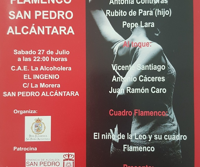 Patrocinamos el XXXVII Festival de Cante Flamenco de San Pedro Alcántara