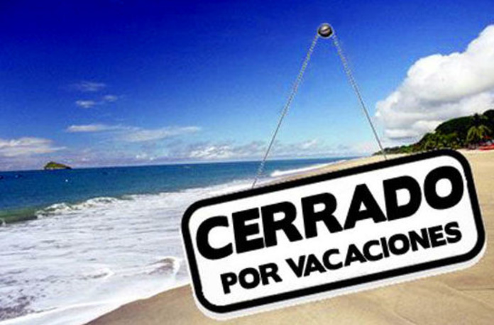 Cerrado por vacaciones del 5 al 22 de agosto
