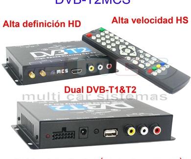 Nuevo Sintonizador TV DIGITAL TERRESTRE TDT DVB-T2 para Vehículos