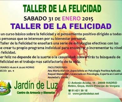 TALLER DE FELICIDAD