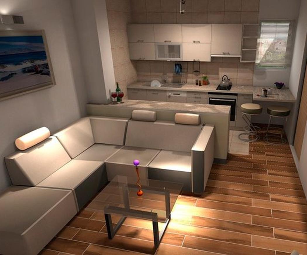 Una cocina abierta para ganar espacio en el salón