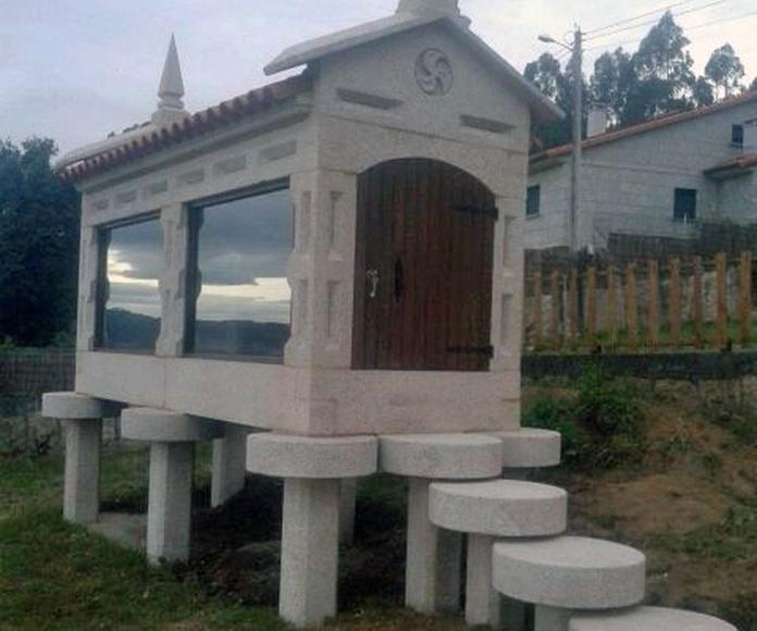 Construcción de hórreos