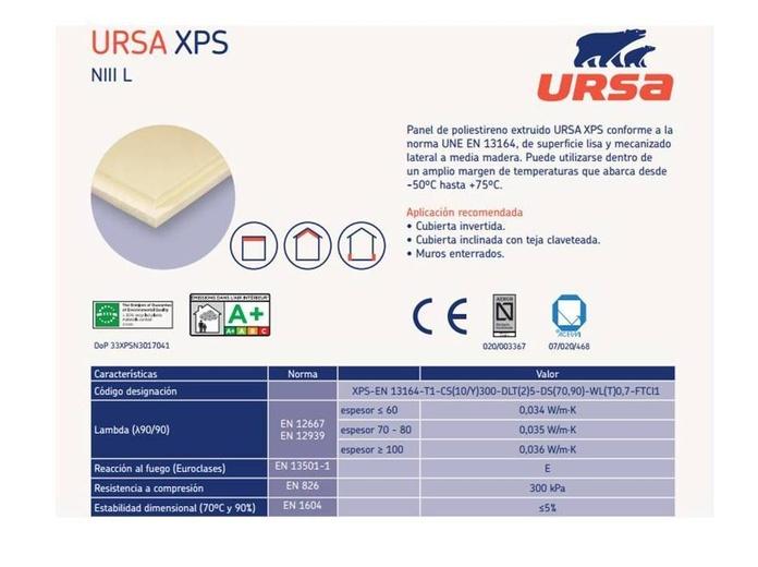 XPS NIII L para cubiertas: Materiales - Distribuciones de AISLAMIENTOS LORSAN