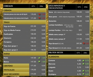 Lonja de Albacete 13.12.18 Cereales & Almendra