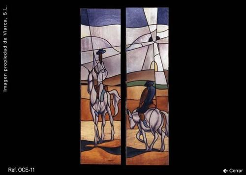 Vidriera Don Quijote y Sancho