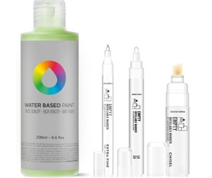Water based paint. recargas 200 ml