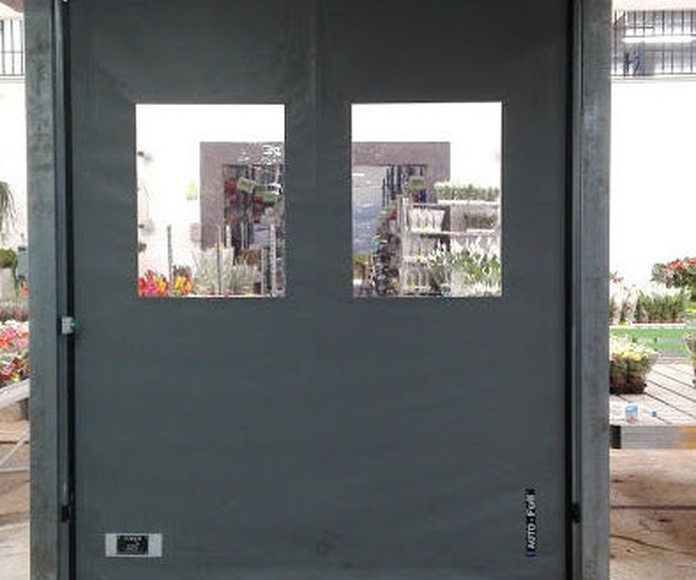 Puerta rápida de lona de pvc enrollable autorreparable auto full