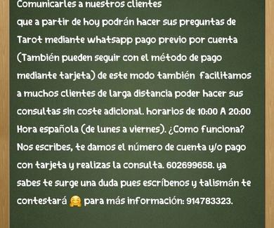 Consultas Tarot whatsapp