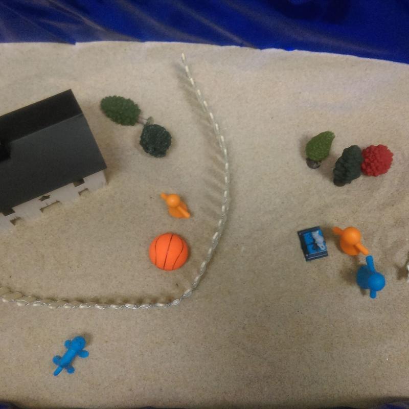Caja de arena paciente de 11 años.