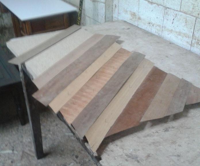 Preparando  la tapa de mesa