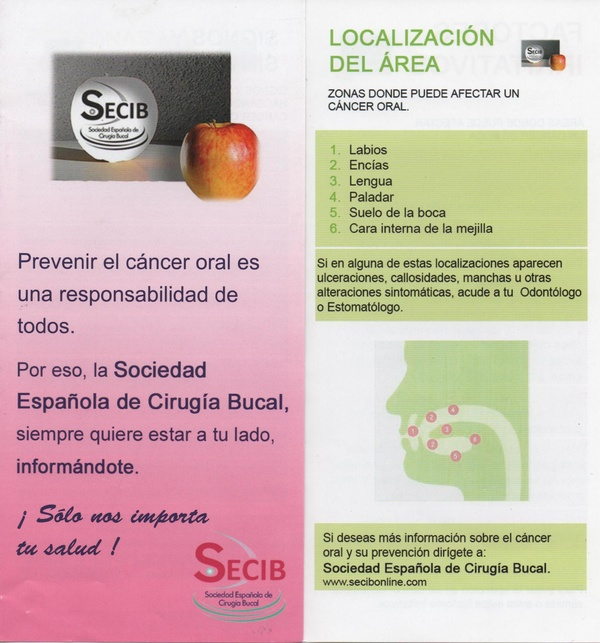 INFORMACION SOBRE LA PREVENCION DEL CANCER ORAL