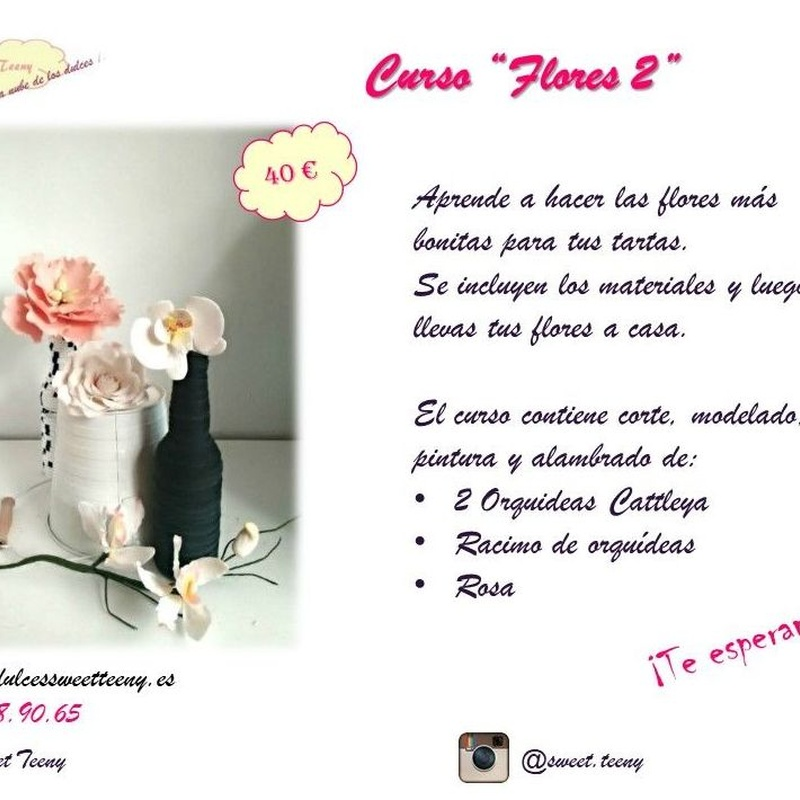 curso de flores en pasta de flores sesion 2