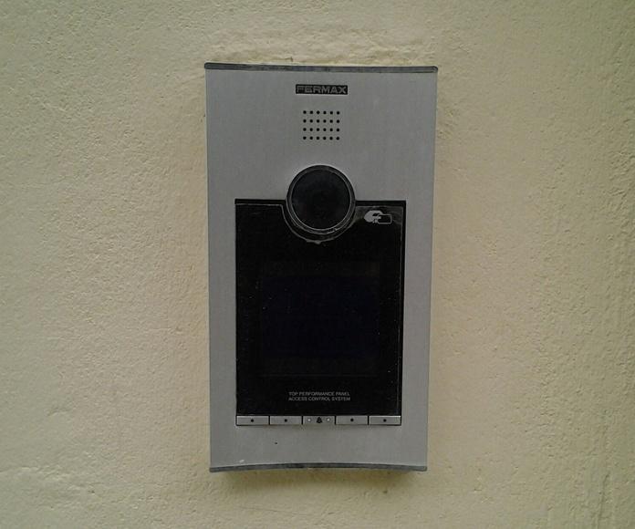 placa exterior video portero