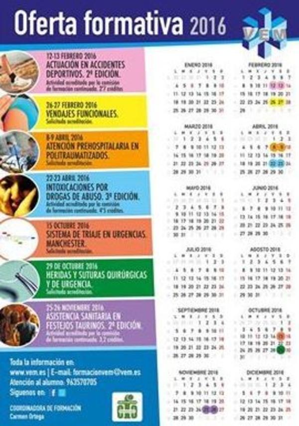 Cursos sanitarios Valencia, Calendario cursos sanitarios Valencia, cursos de formacion sanitarios Valencia