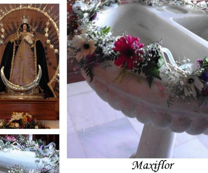 Decoracion de ceremonias, Iglesias, jardines etc.  : Catálogo  de Floristería Maxiflor