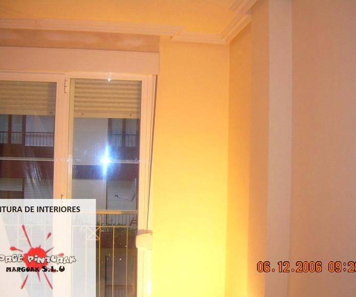 Pintura de interiores: Servicios de Jorge Pinturak Margoak S.L.U.