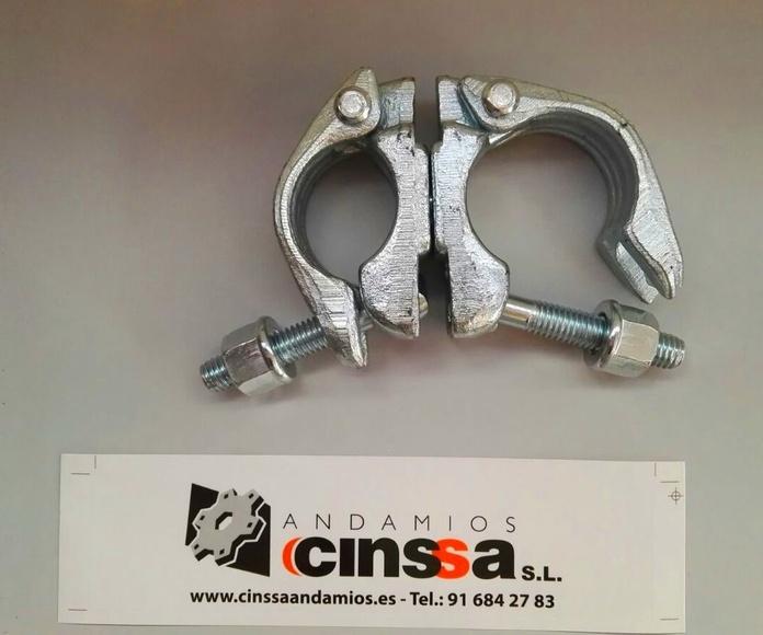 Abrazadera giratoria (grapa) para andamio de diámetro 0,48 22 mm galvanizada.