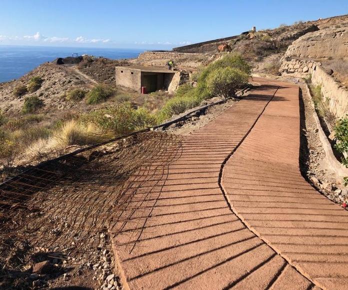 Acondicionamiento de caminos de hormigón en Tenerife Sur