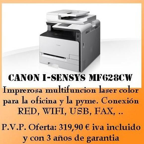 canon i-sensys mf628cw pvp ii: 319,90€