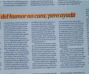 EL SENTIDO DEL HUMOR NO CURA PERO SI AYUDA
