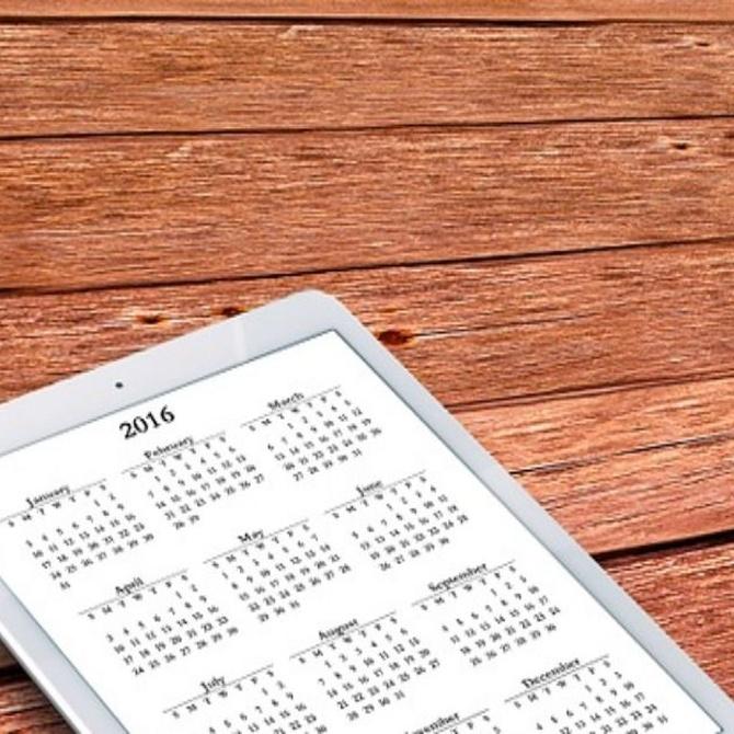 La utilidad de un calendario en tu vida