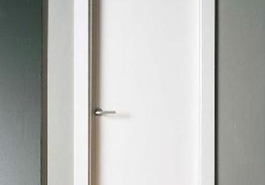 Puerta lacada blanca lisa maciza