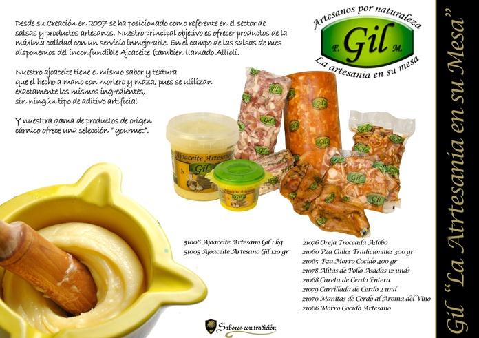 """Carnes y Salsas """" Gil """": Productos de Sabores con tradición"""