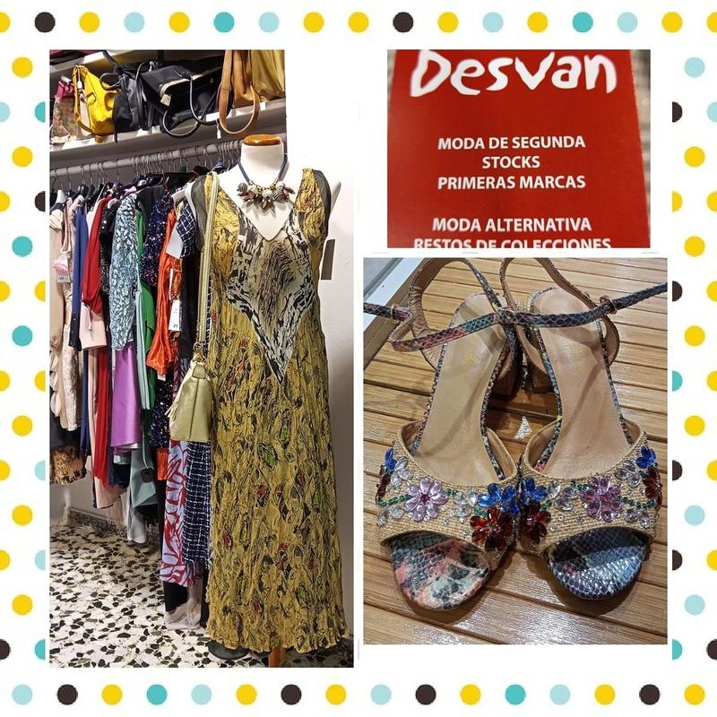 Vestidos largos y sandalias de pedrería: Catálogo de Desván Moda Segunda Mano