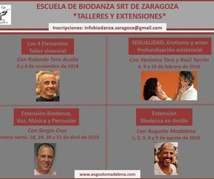Próximos Talleres y Extensiones de la Escuela de Biodanza SRT de Zaragoza