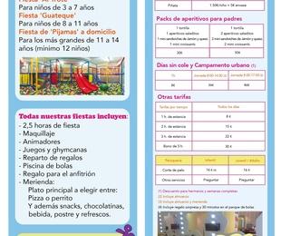PRECIOS DE FIESTAS INFANTILES