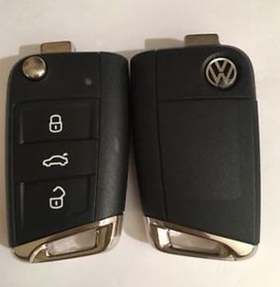 Copia de llave con mando Volkswagen (VW), Seat y Skoda