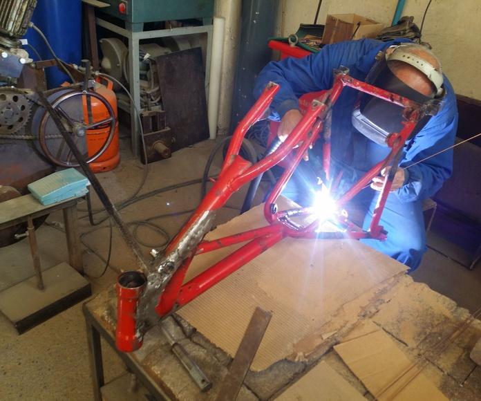 modificacion chasis moto antigua