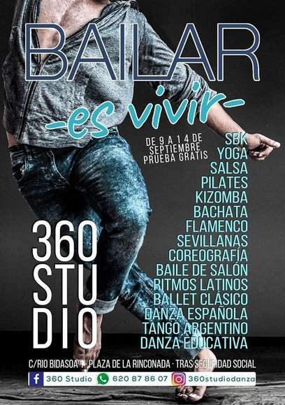 CURSO 18/19 EN 360STUDIO: Actividades y horarios   de Taller de Danza de Alcalá