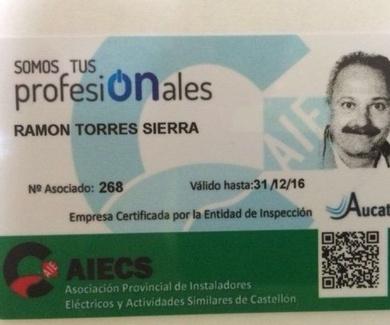 Empresa Certificada por la Entidad de Inspección Aucatel, Certificado AIECS