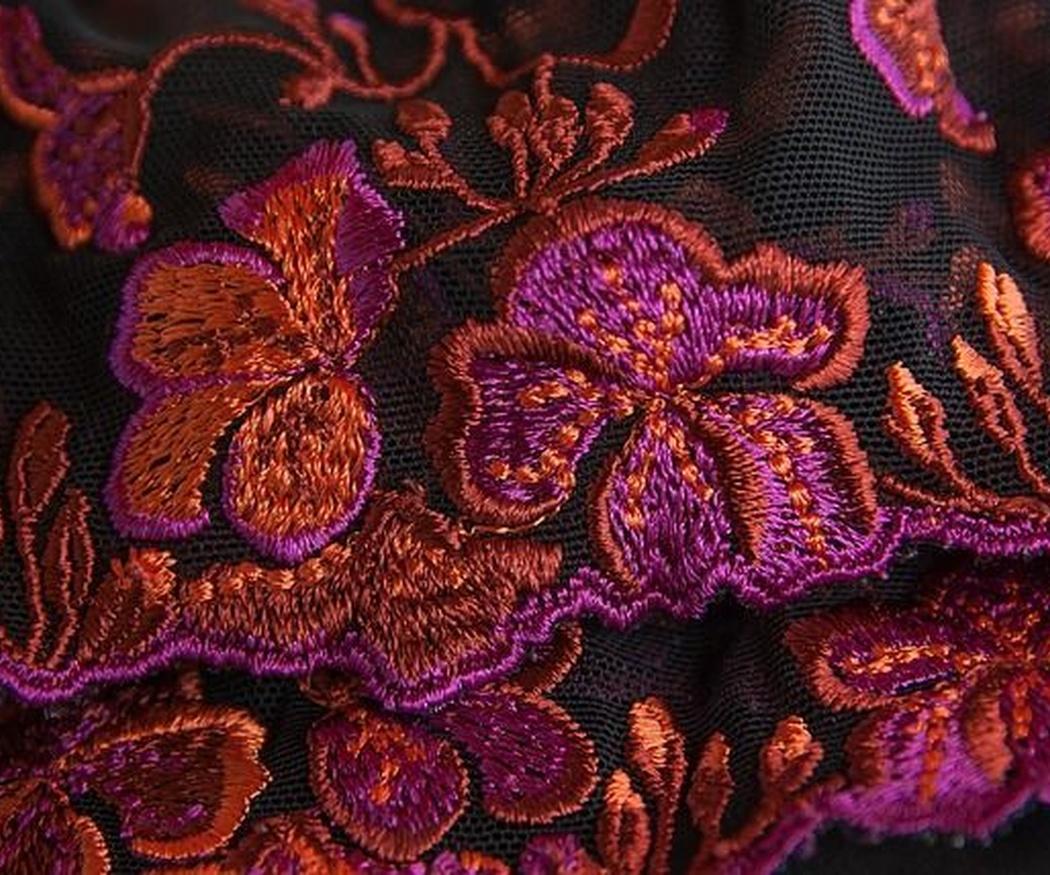 Los bordados a máquina en diferentes telas