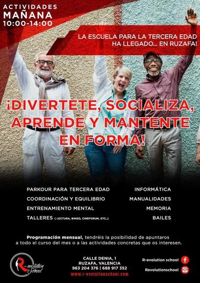 ESCUELA PARA LA TERCERA EDAD: Actividades y cursos de R-evolution School