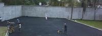 Asfalto pista de tenis